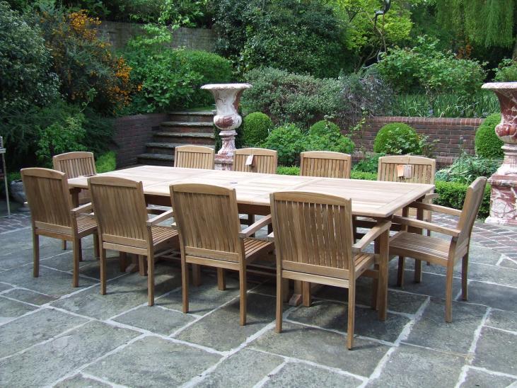 10 Seater Teak Garden Set