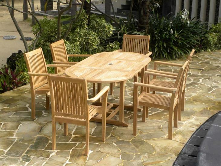 4 Seater Teak Garden Set
