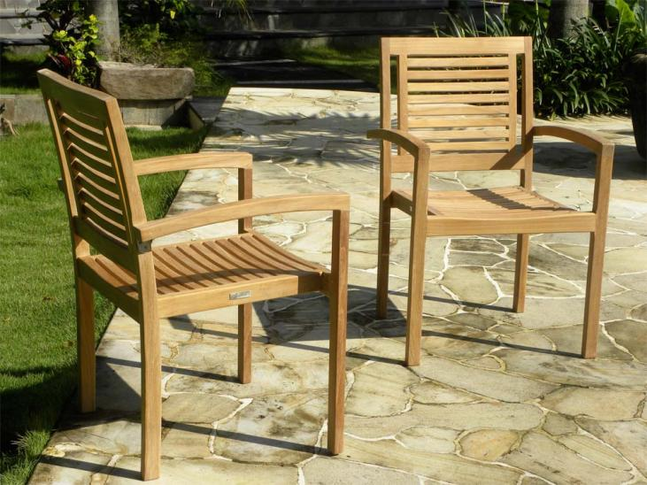 Panama Teak Stackign Chairs