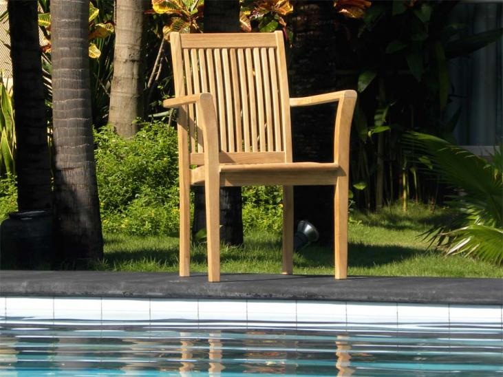 Grenada Teak Stacking Chair