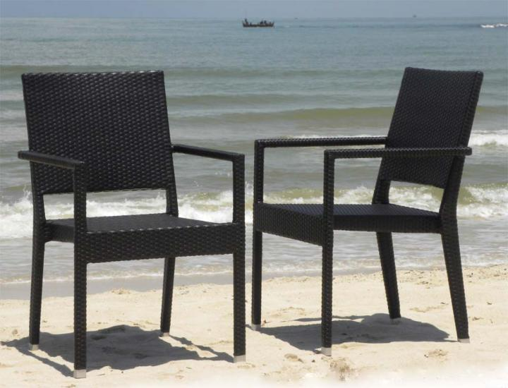 Mauritian Weave Stacking Chairs