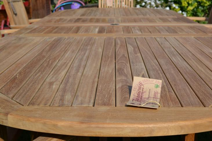 cloup of the teak used in our 8 seater teak garden set