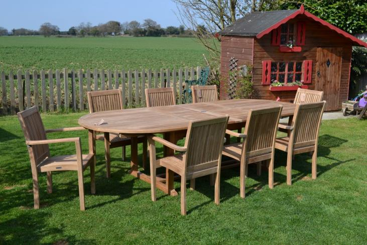 8 seater double extending set