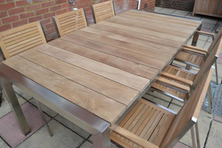 Stunning Teak Slatted Table Top