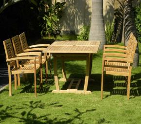 8 Seater Teak Rectangle Garden Set