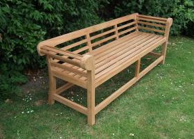 Teak Garden Bench - Low Back Lutyens Bench