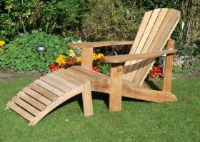 Adirondack - The Ottoman with Footstool
