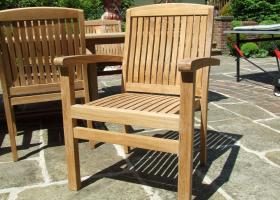 Teak Stacking Chairs - Trinidad