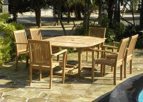 6 seater extendable round/oval set