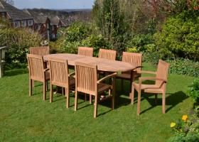 8 Seater Teak Garden Set Clearance