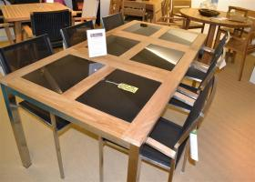 Showroom Clearance 8 Seater Provence Teak/Stainless Steel/Glass Outdoor Set