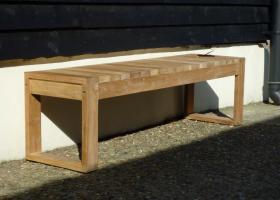 Designer Teak Garden Bench - Ocean