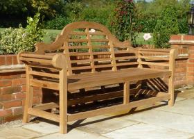 Teak Lutyens Garden Bench