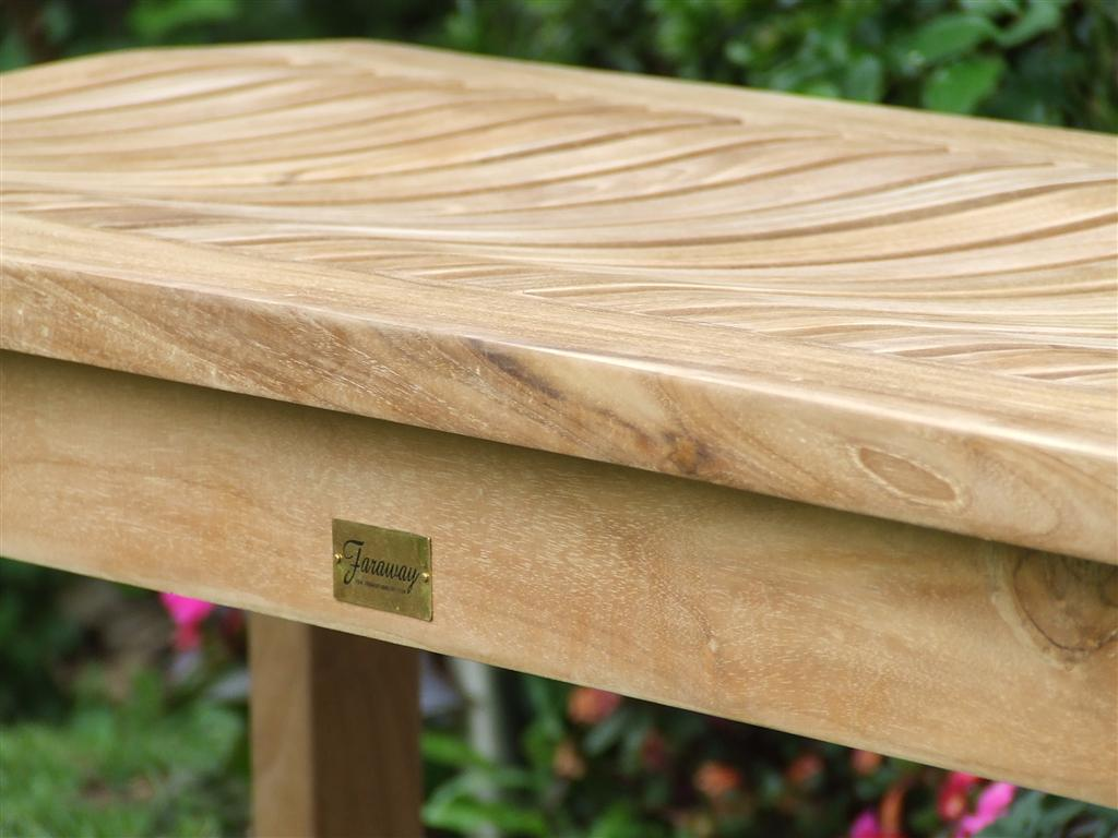Order the Backless Teak Garden Bench Online | Faraway ...