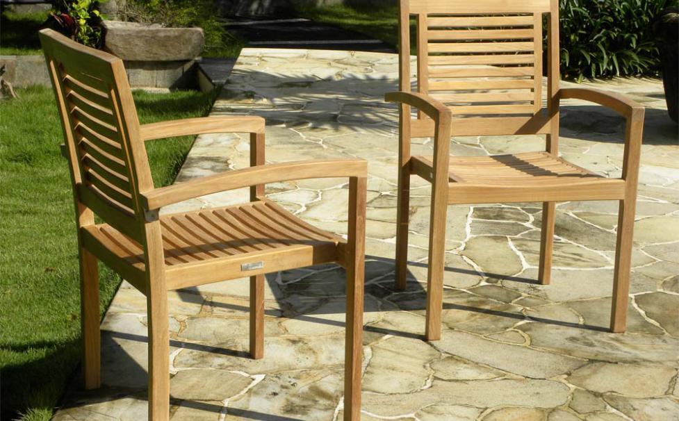 Panama Teak Stackign Chairs