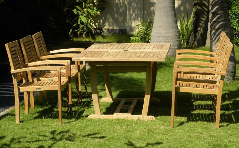 8 Seater Teak Rectangle Garden Set